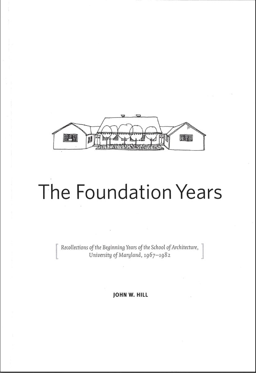 Line drawing of building: Foundation Years