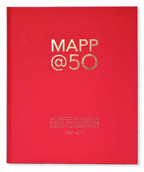 MAPP@50 Book Cover, red and gold