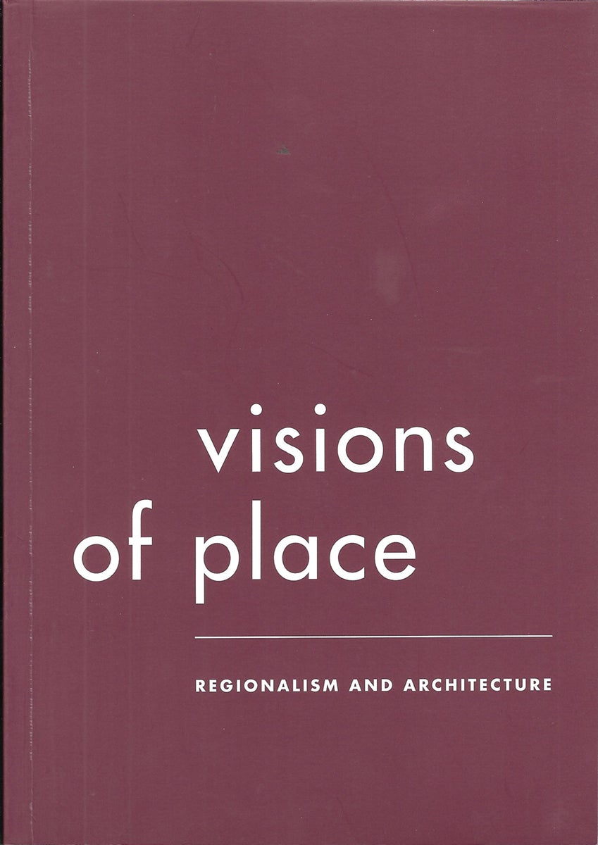 Maroon book cover: Visions of Place