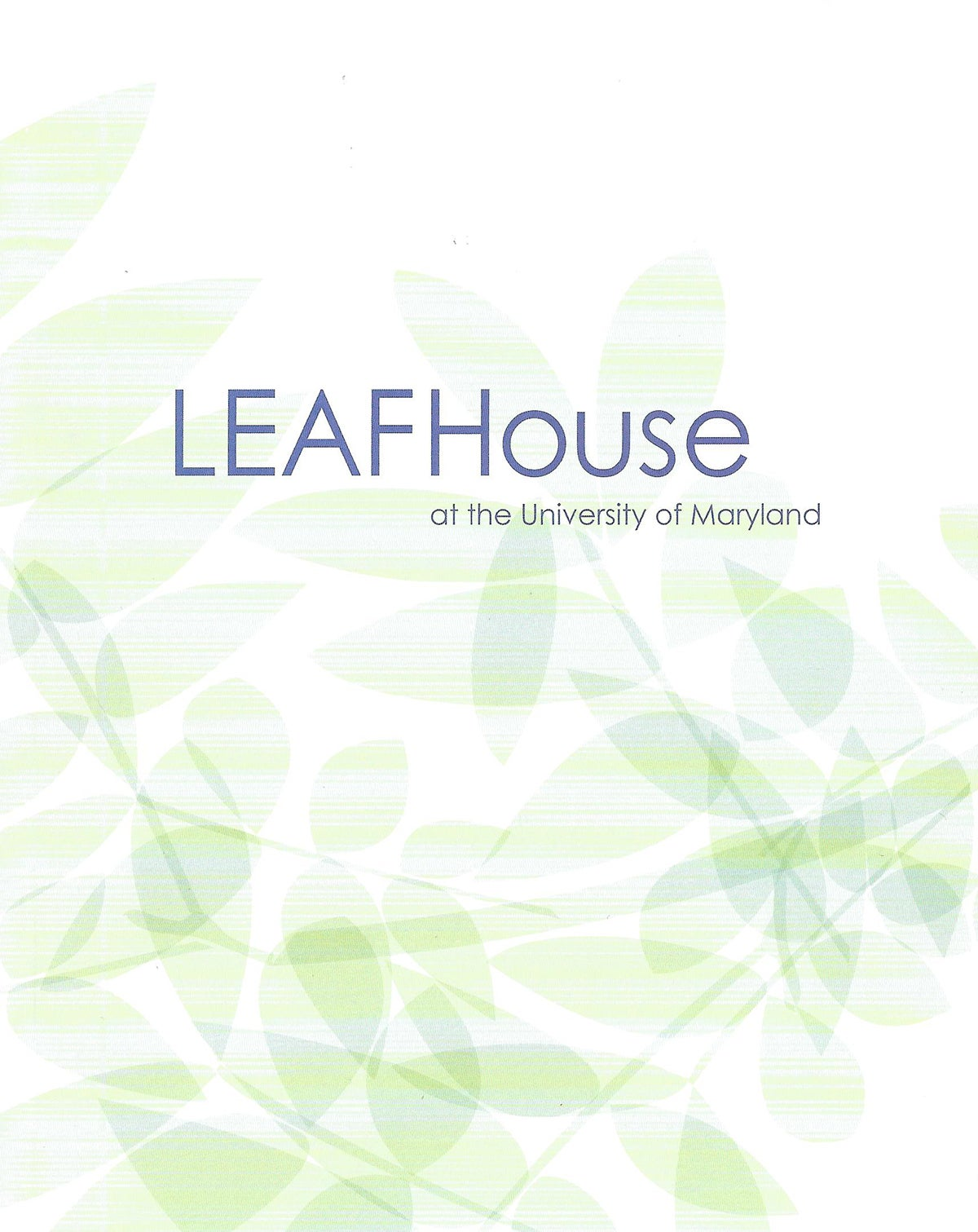 LEAFHouse book cover