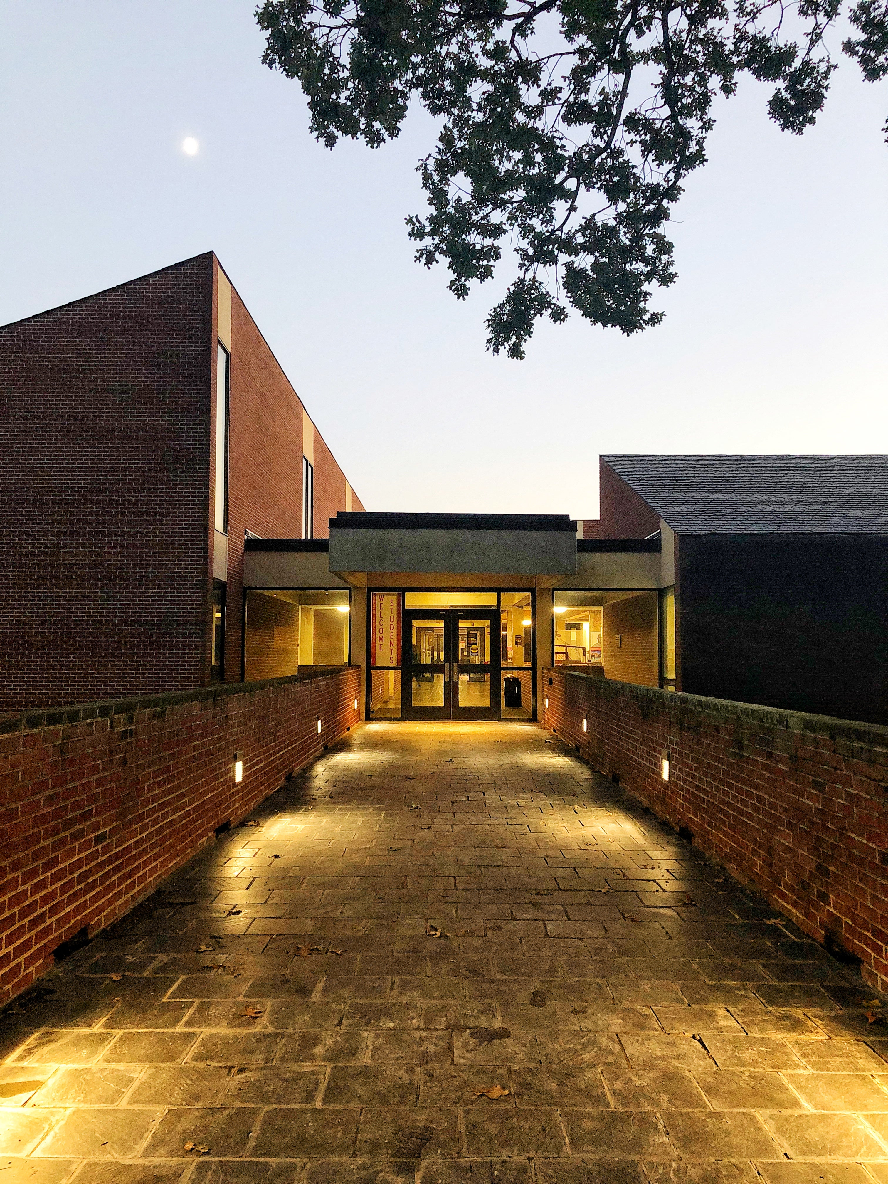 UMD Architecture Building at twilight. Photo by Betsy Nolen Petrusic.