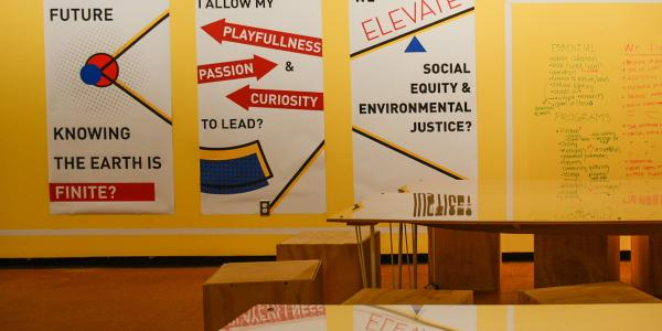 Sustenance & Sustainability posters in Kibel Gallery.