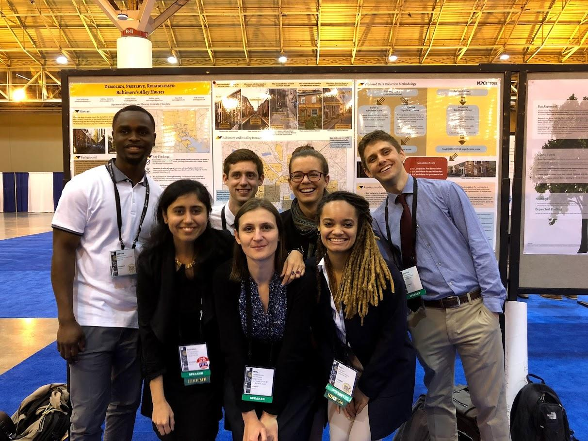 Students present project on Baltimore Alley Houses at Planning Conference