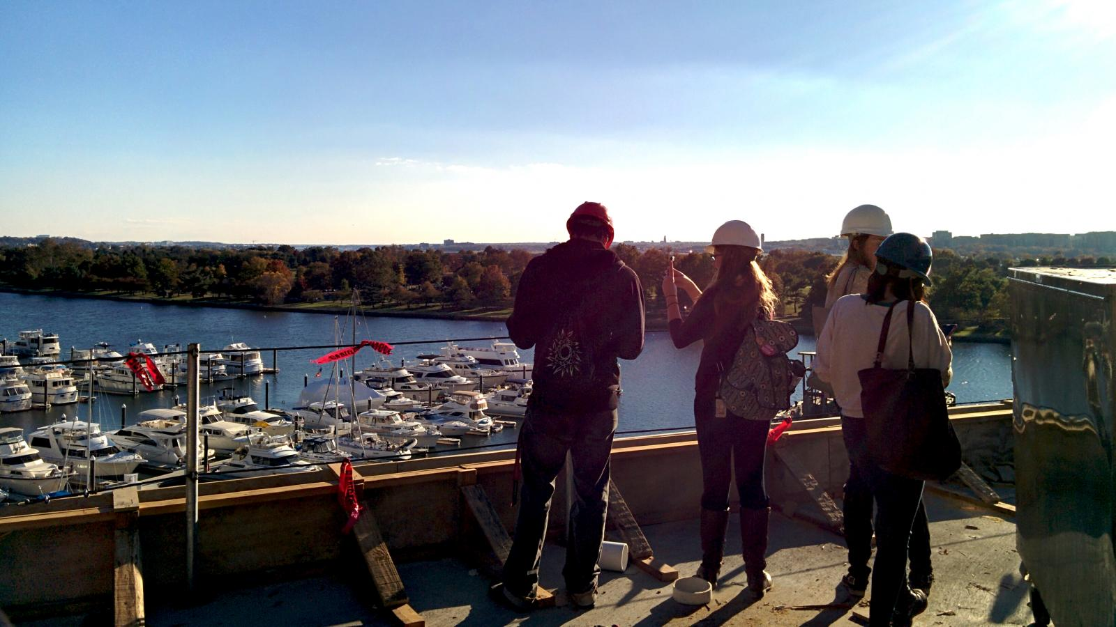 Students tour development sites in Washington, D.C.