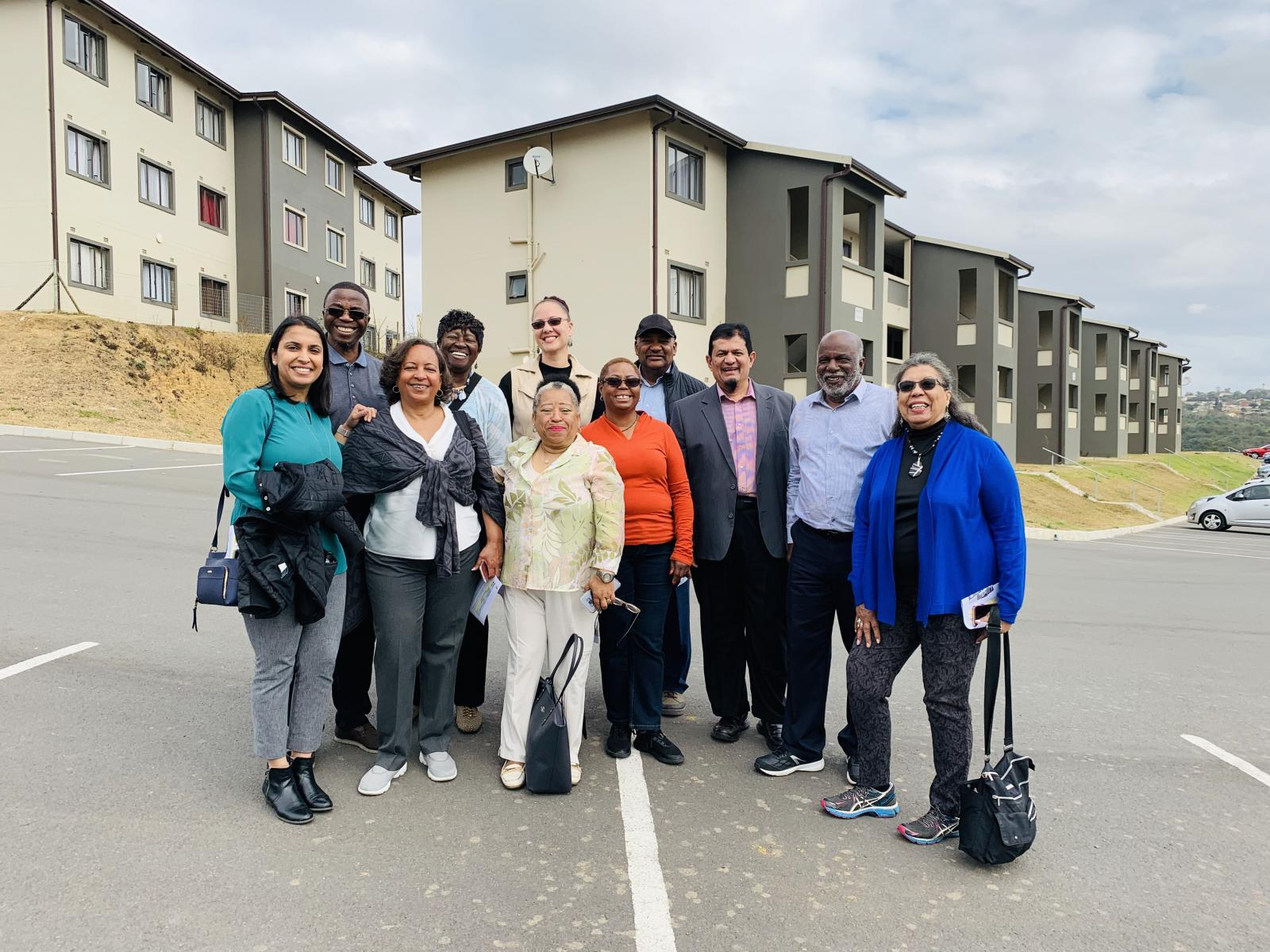 MRED's Tanya Bansal and Maria Day-Marshall, with colleagues in South Africa in 2019.